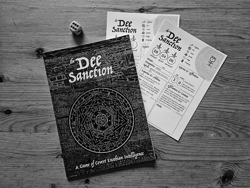 Dee-Sanction-and-character-sheets-BW